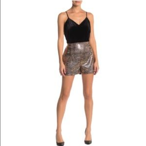 Socialite High Waisted Sequin Shorts